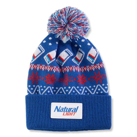 Natural Light Pom Beanie