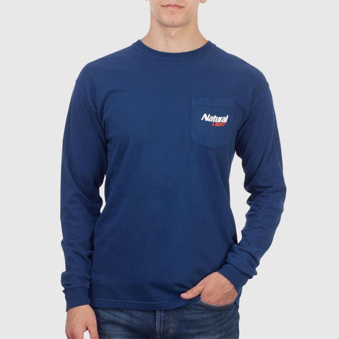 Natural Light Long Sleeve Pocket Tee