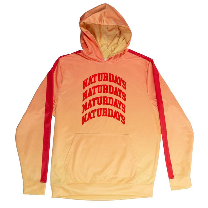 natural light naturdays orange and red ombre hoodie