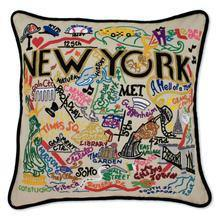 hand embroidered new york pillow from catstudio