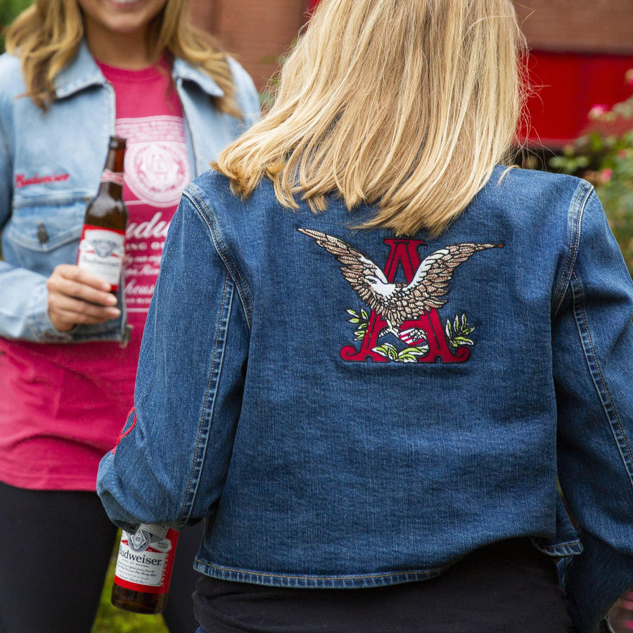 Oliver_Logan_Budweiser_Ladies_A_and_Eagle_Crop_Zip_Denim_Jacket