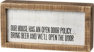 Open Door Policy - Box Sign