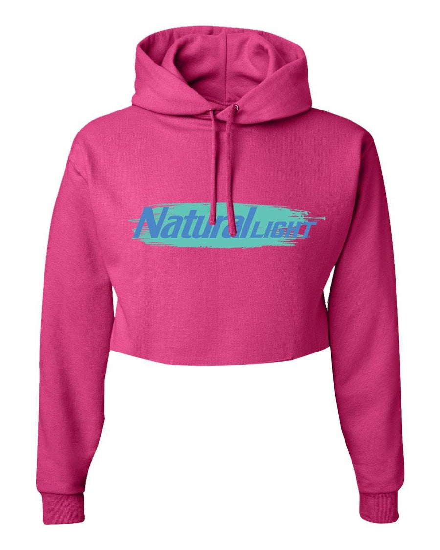 Natural Light Pink Crop Hoodie