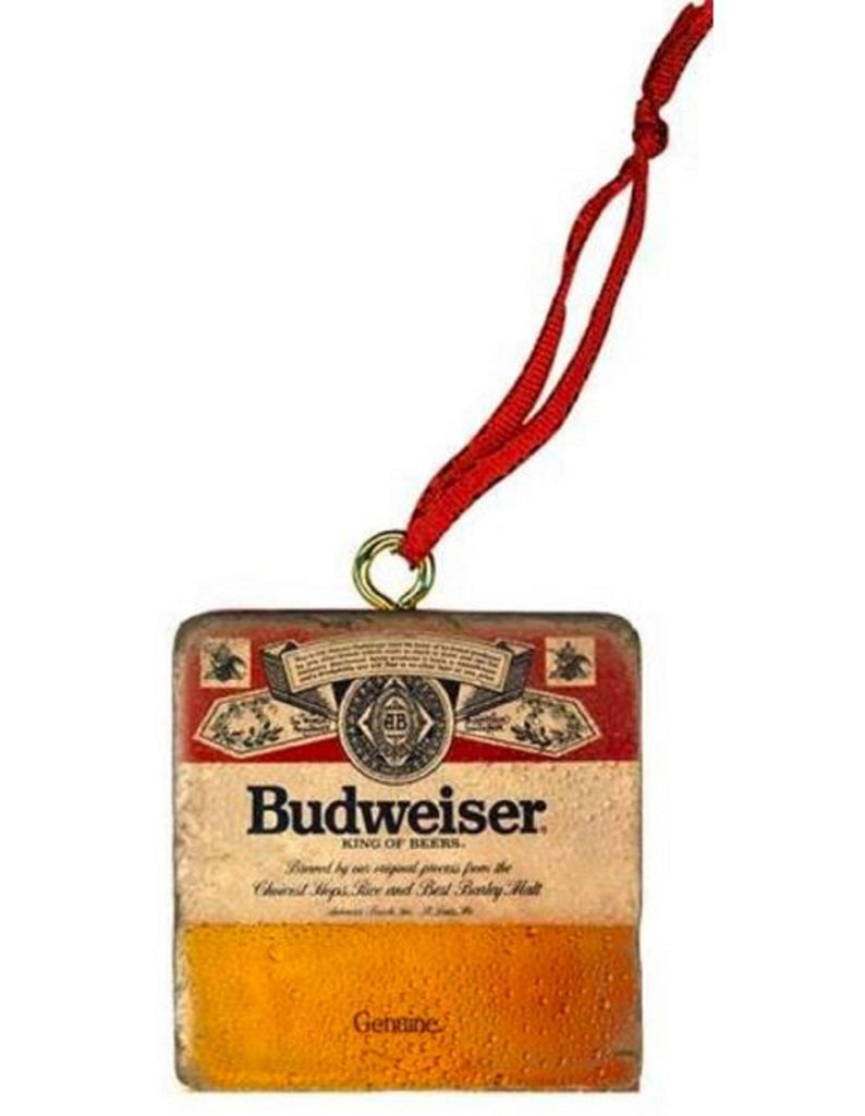 Budweiser Genuine Label Stone Ornament