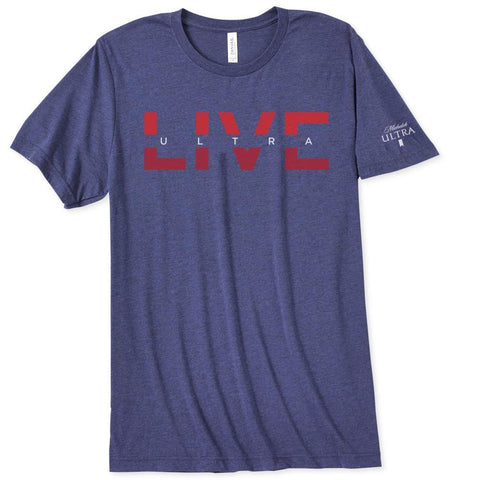 Michelob Ultra Navy Triblend Tee