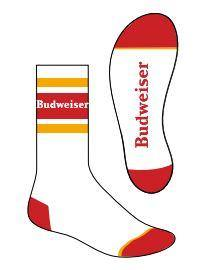Budweiser Socks- White