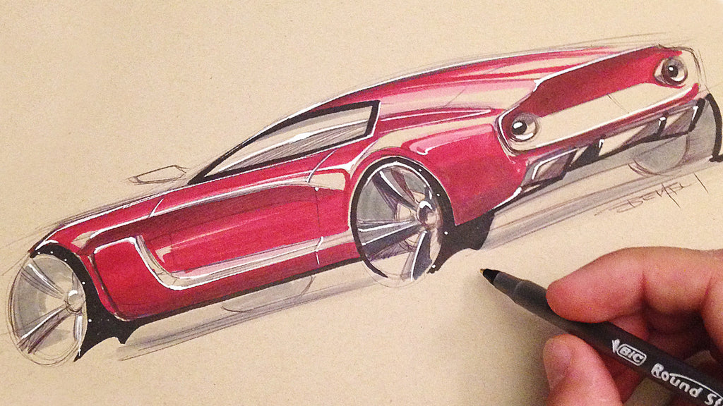 Car Sketching with Born To Sketch Markers