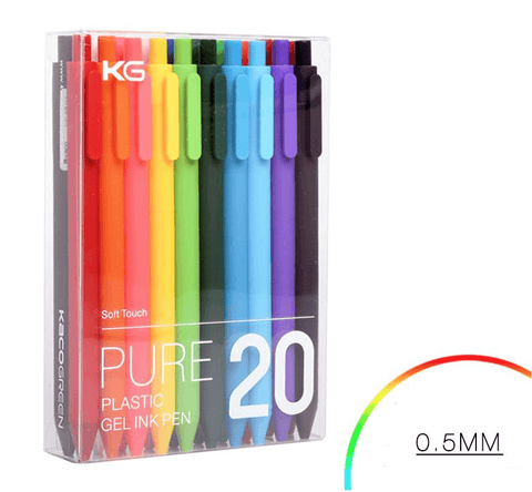 20 colors 0.5MM Soft Touch Gel Pen