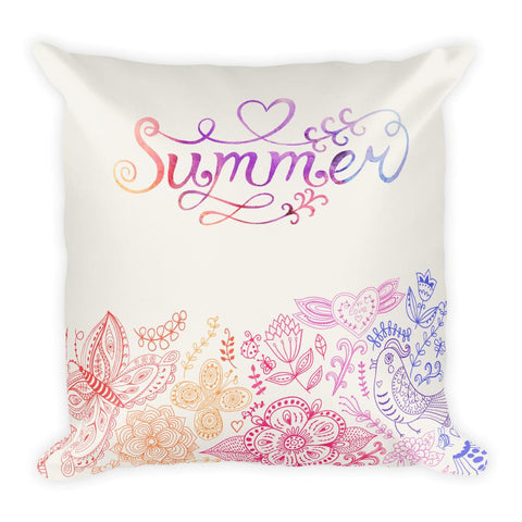 Summer Day Square Pillow
