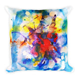 Watercolor Madness Square Pillow