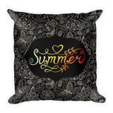 Summer Night Square Pillow