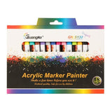12/18 Colors Acrylic Paint Marker Sets