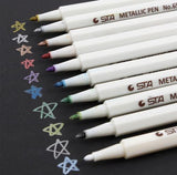 BTS 10 Color Set Metallic Brush Pens