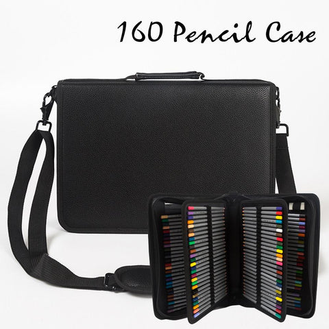 Leather (PU) Pencil Case 160 Pencil Slots