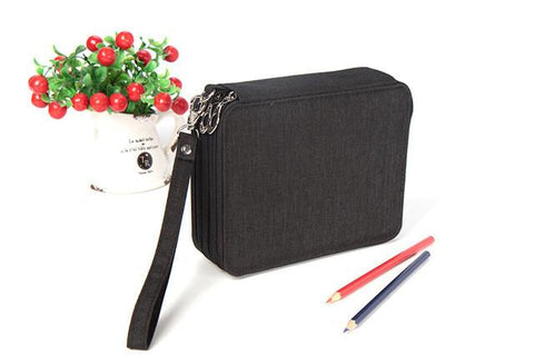 Canvas Pencil Case 81 Pencil Slots
