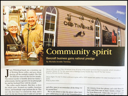 Did you see the article about us in Country Roads Magazine?
