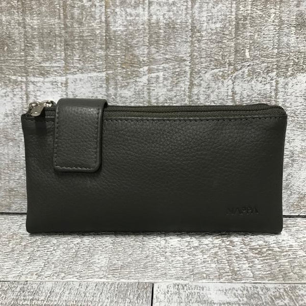 Leather Wallet - Pewter