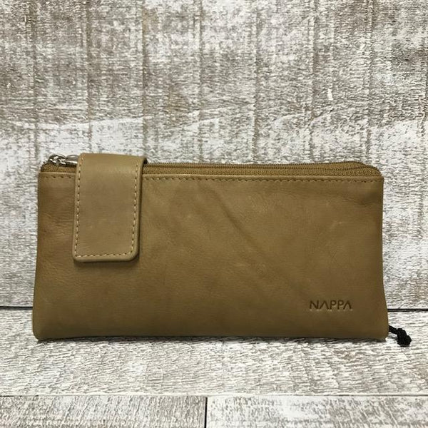 Leather Wallet - Camel