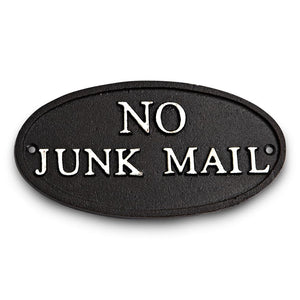 Sign - No Junk Mail