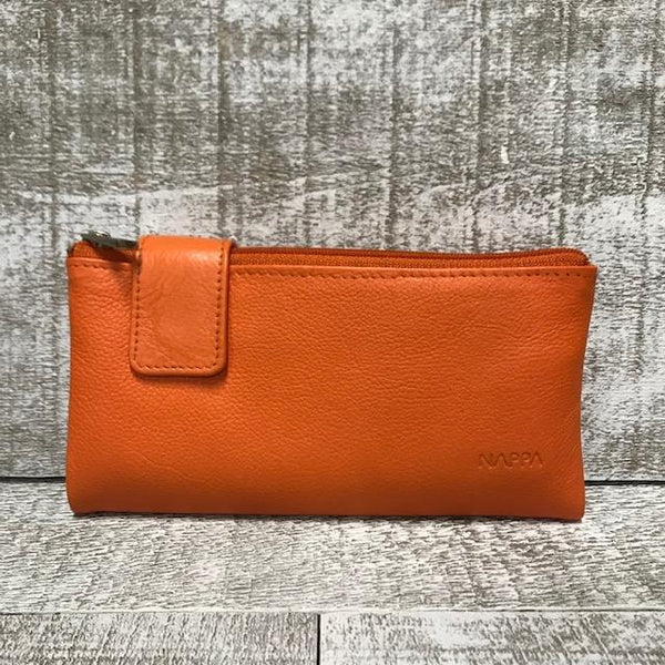 Leather Wallet - Burnt Orange