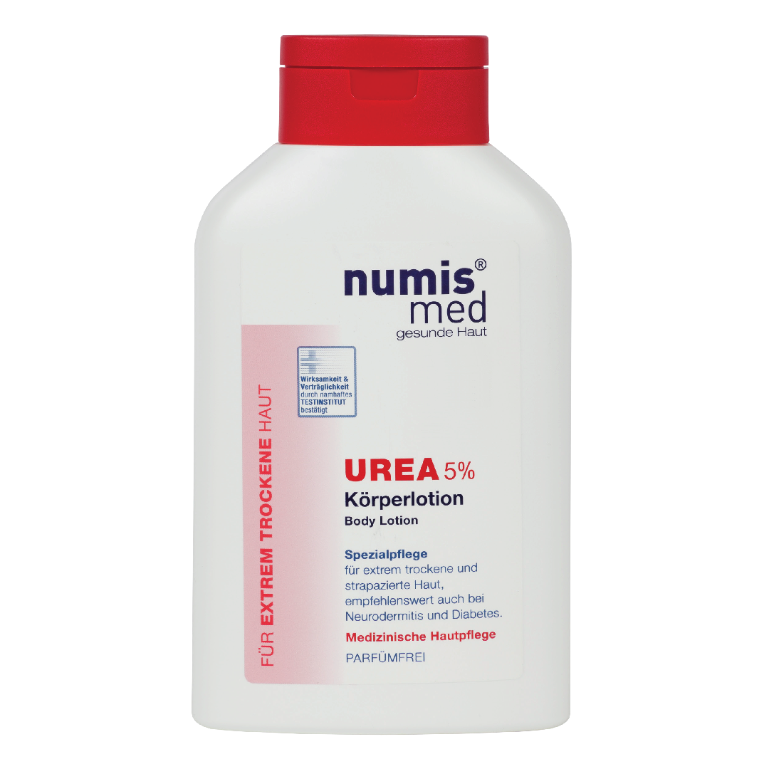 numis med 5% urea body lotion. Hydration for extremely dry & irritated skin