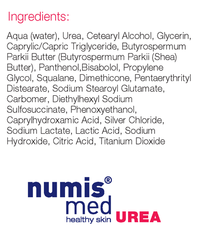 Numis med 10% urea hand cream for extremely dry, irritated skin