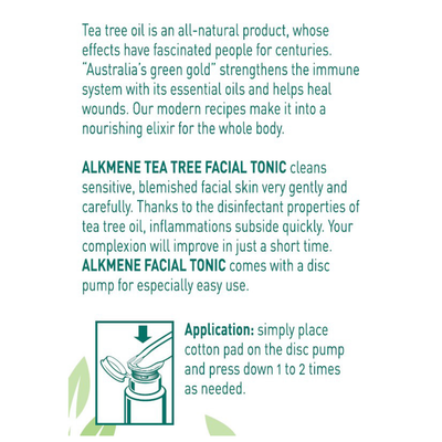 Acne fighting skin care - Alkmene Tea Tree Oil Face toner for Dry oily Blemished Skin - Treat Cystic acne breakouts travel size white & green natural blemish remedy how to use