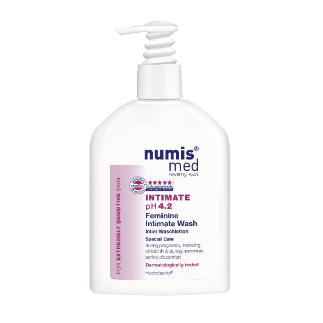 numis med sensitive Intimate Wash  gently cleanses feminine intimate areas