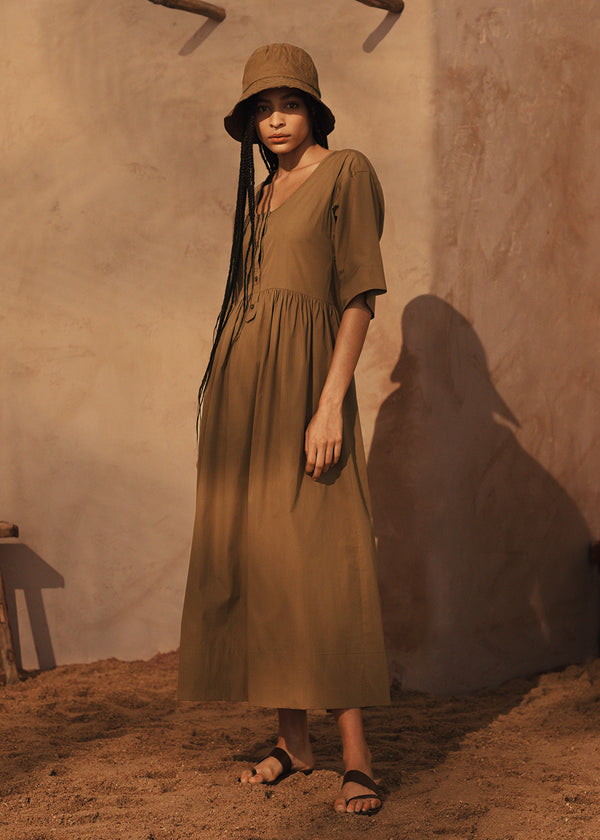 Mary Dress in Tan