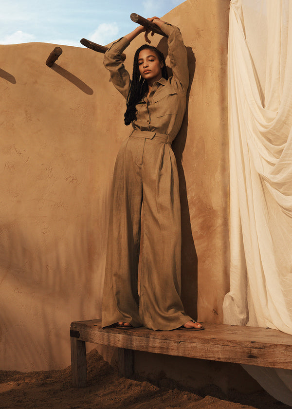 Willow Shirt & Molly Trousers in Clay