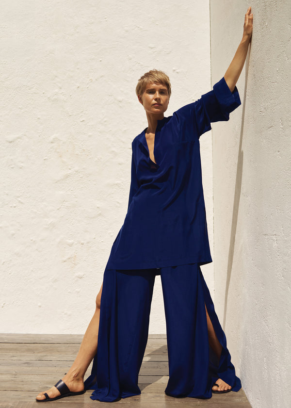 Belinda Kaftan & Filippa Trousers in Indigo