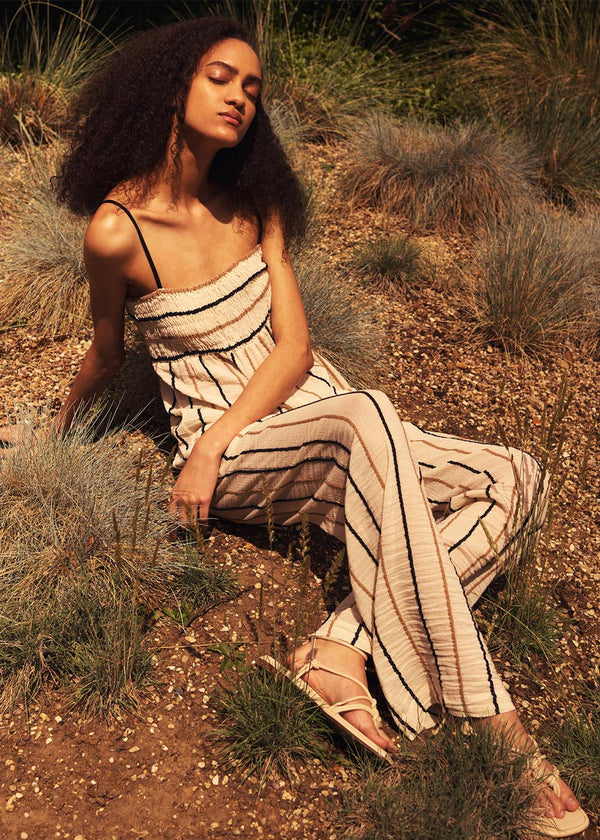 Tallie Jumpsuit in Rope Stripe