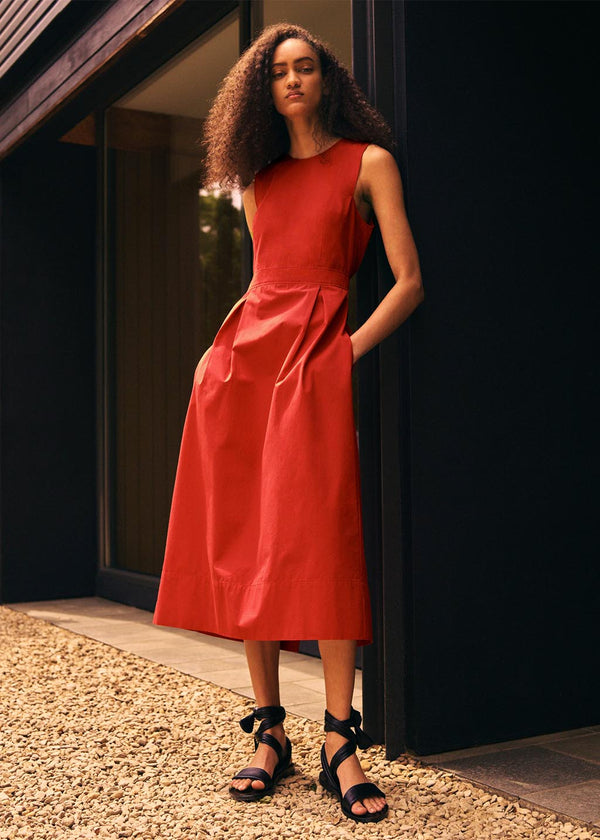 Marjorie Dress in Rouge Red
