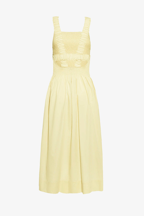Cordelia Cotton Sun Dress in Ice Lemon.