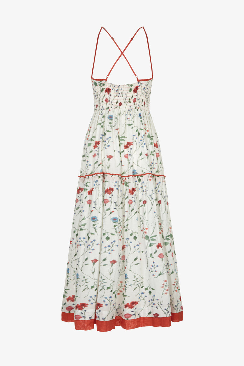 Emma Meadow Print Cross Back Dress