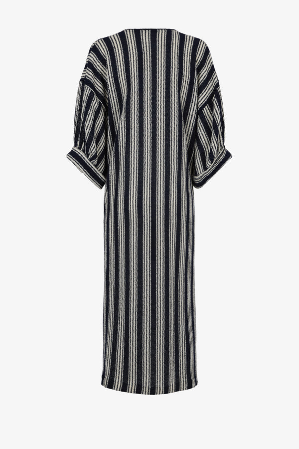 Livietta Striped Elbow Length Side Split Kaftan