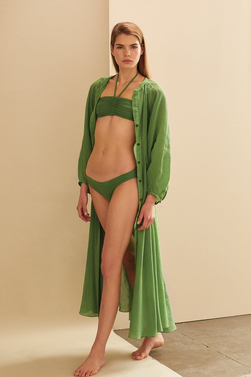 Millicent Halter Neck Bikini in Green by Three Graces London