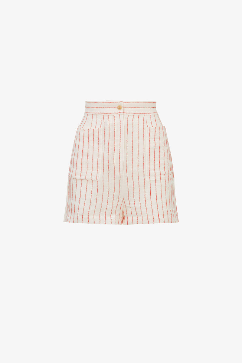 Osmo Linen Shorts in Wave Stripe