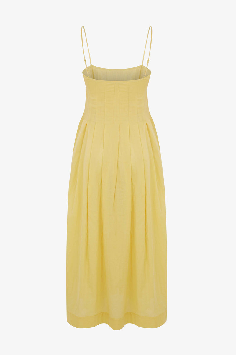 Lucia Pleated Cami Detailed Midi Dress