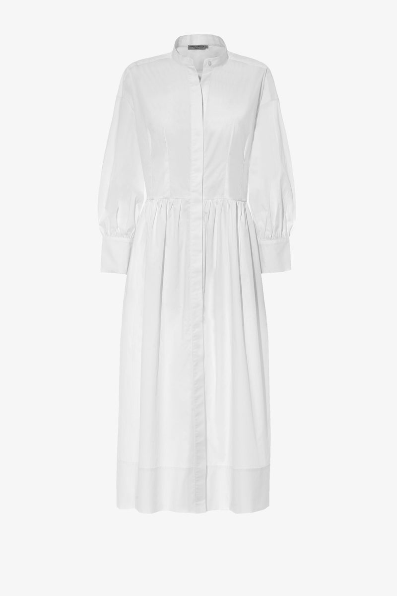 Peppa Cotton Shirt Dress in White
