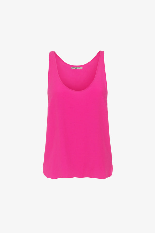 Tina Scoop Neck Top in Ibiza Pink