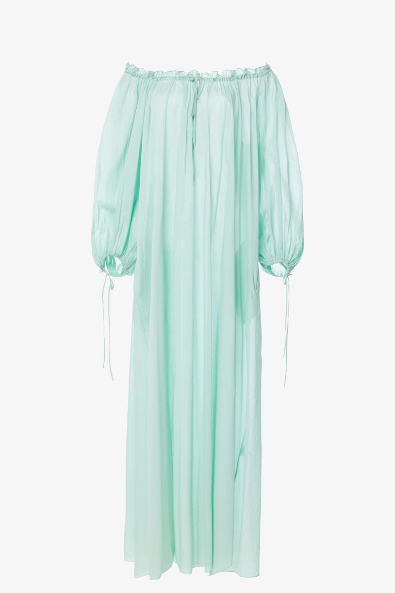 Almost a Honeymoon Cotton Maxi Dress in Mint