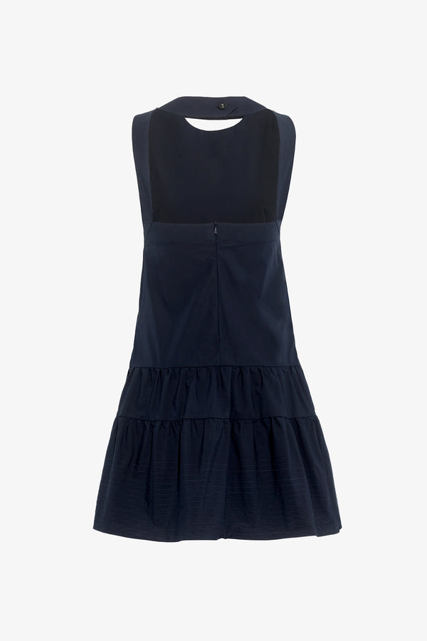 Briar Cotton Open back Mini Dress in Navy