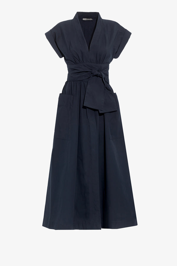 Clarissa Classic Midi Dress in Navy