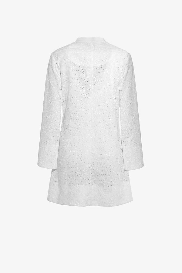 Verity Mini Dress in Broderie Anglaise