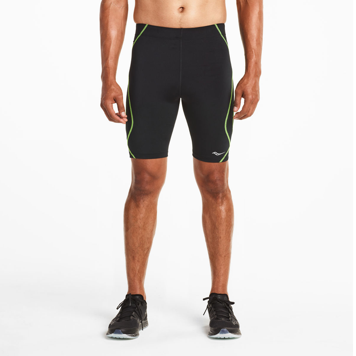 Saucony Men's Endorphin Half Tight Black Citron