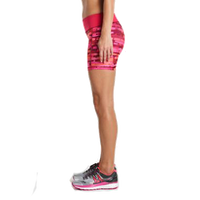 side view Saucony scoot tight short in pink