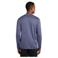 back view of RUNdetroit wicking Men's long sleeve shirt
