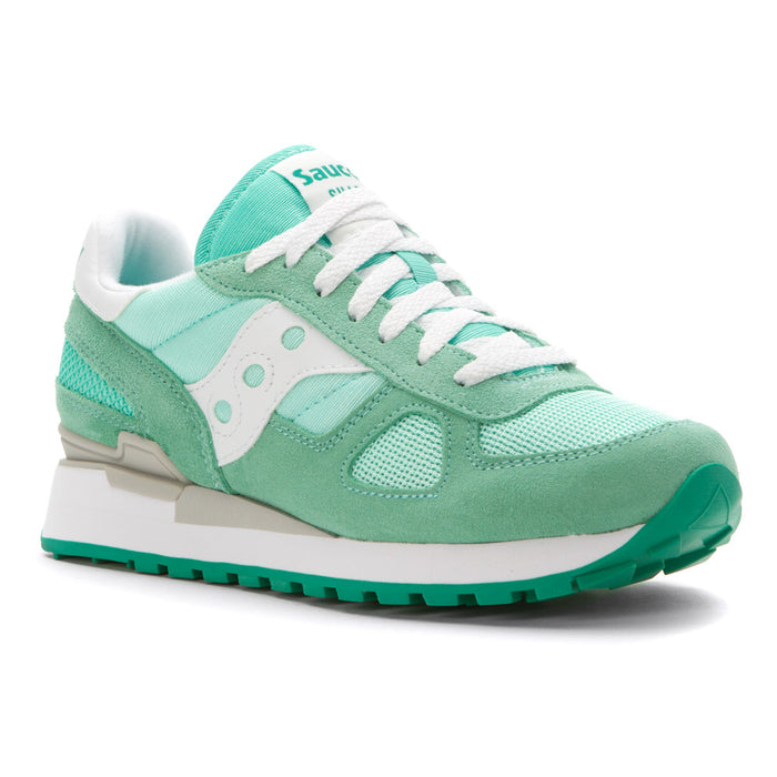 Mint green vintage inspired Saucony shoes