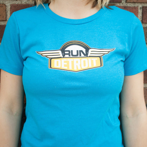 Women's RUNdetroit Short Sleeve Tee in Blue